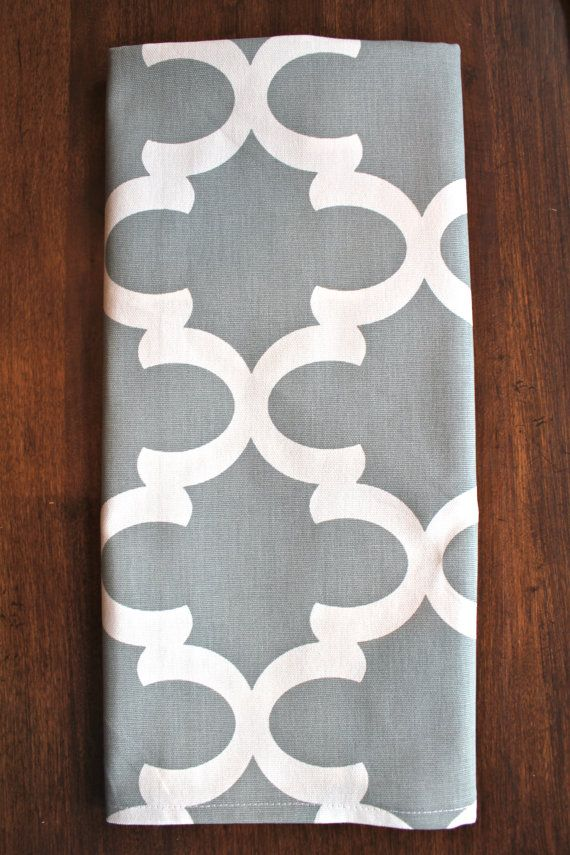 GRAY TEA TOWEL Tea Towel Gray Hand Towels Kitchen Wedding gifts Shower Decorative Tea Towels Grey chevron Housewares