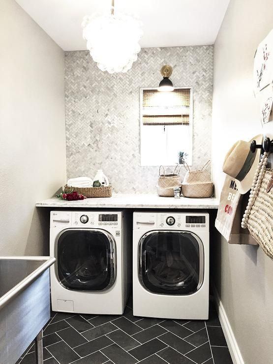 Best Gray Laundry Room Features Walls Painted Gray Sherwin 400 x 300