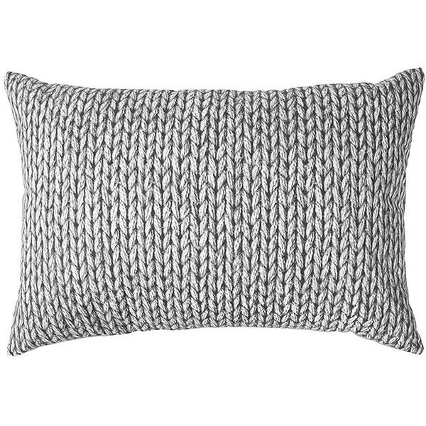 Knit Print Bed Cushion Grey Target Australia 197 250 Idr Liked On Polyvore Featuring Home Home Decor Throw Pillows Bedroom Gray Accent Pillows Bed Pillows