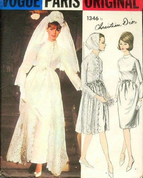 Christian Dior Wedding Gowns: 1960s Christian Dior Wedding Bridal Dress, Overdress Coat