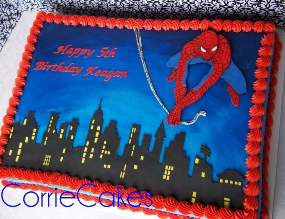 Spider Man Cake In 2019 Boy Birthday Parties Birthday Cake