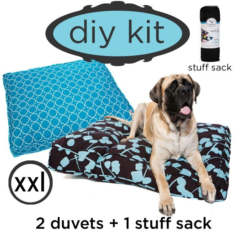 diy kit - choose your own (huge): 2 duvets and 1 stuff sack for $99!  Recycle old pillows, blankets, clothes into a new dog bed or re-vamp and old dog bed with a new cover.