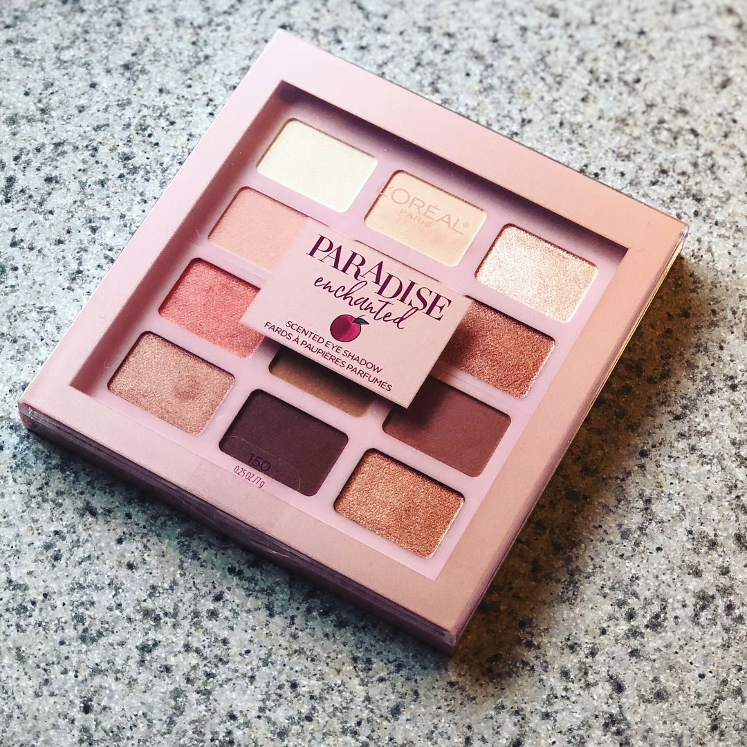 05af6f41b3a L'Oreal Paradise Enchanted palette (peach scented!) | Make up in ...