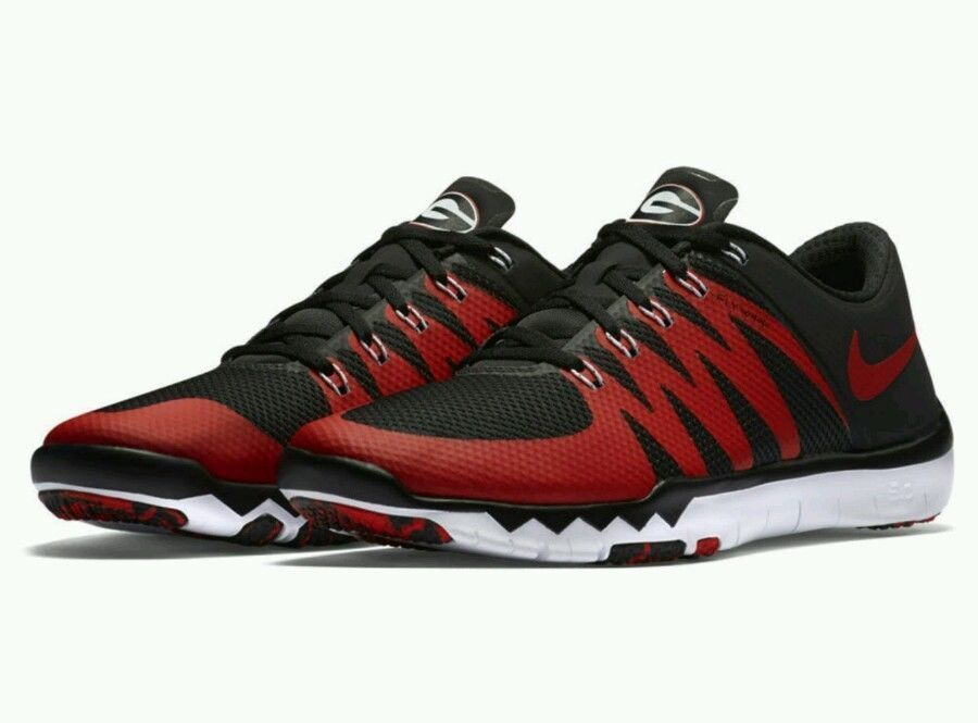 c6e3270add4 NIKE FREE TRAINER 5.0 V6 AMP UGA BULLDOGS SZ 12 723939 005 SEC UNIV. OF  GEORGIA