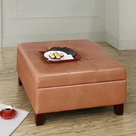 Awe Inspiring Hadfield Faux Leather Square Storage Ottoman Walmart Com Cjindustries Chair Design For Home Cjindustriesco