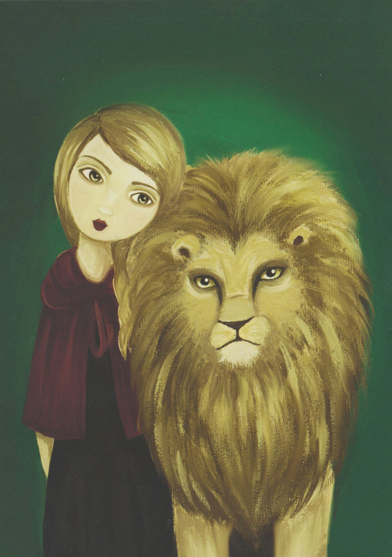 Lion Painting, Leo Gift, Girl Prints, Animal Wall Art, Whimsical Art ...
