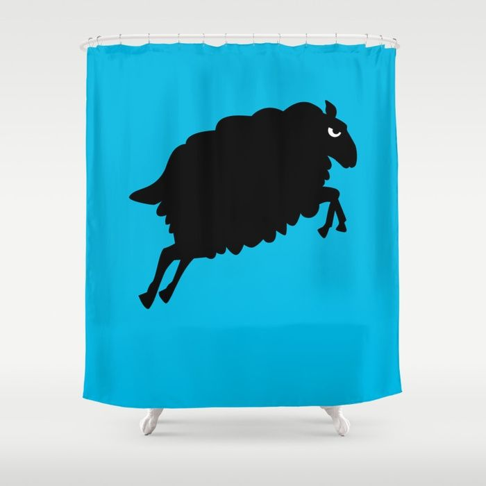 Angry Animals Sheep Shower Curtain