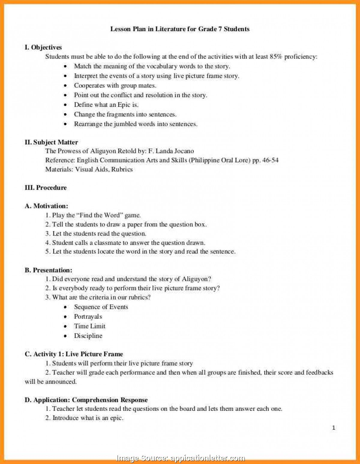 Special Detailed Lesson Plan In English Reading Elementary