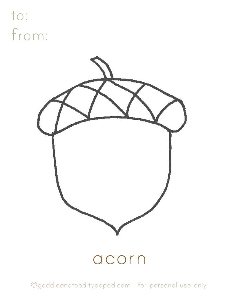 Gaddieandtood Typepad Com Free Printable Acorn Coloring Page Coloring Pages Printable Coloring Pages Autumn Theme