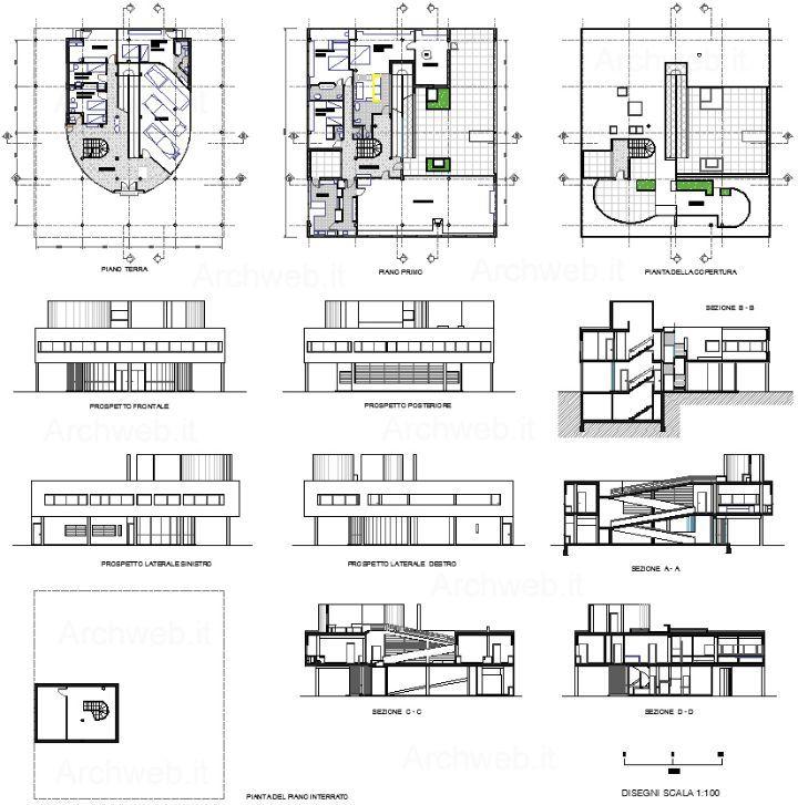 Villa Saboya   Le Corbusier y Pierre Jeanneret 2d and Architecture