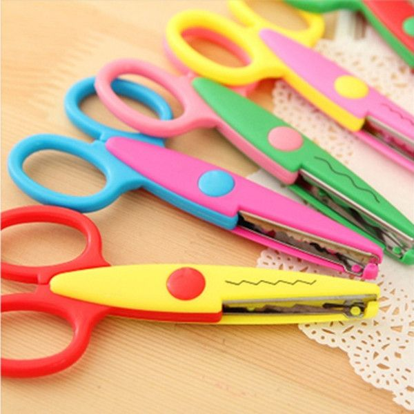 Scissors New Kids Scissors For Diy Photo Album Handmade Laciness Scissors For Photo Album Card Decorative Diy Scissors 6 Patterns Office & School Supplies