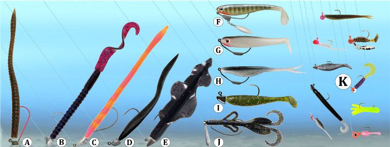 Fishing artificial plastic worms swimbait jig rigs for Jig fishing tips