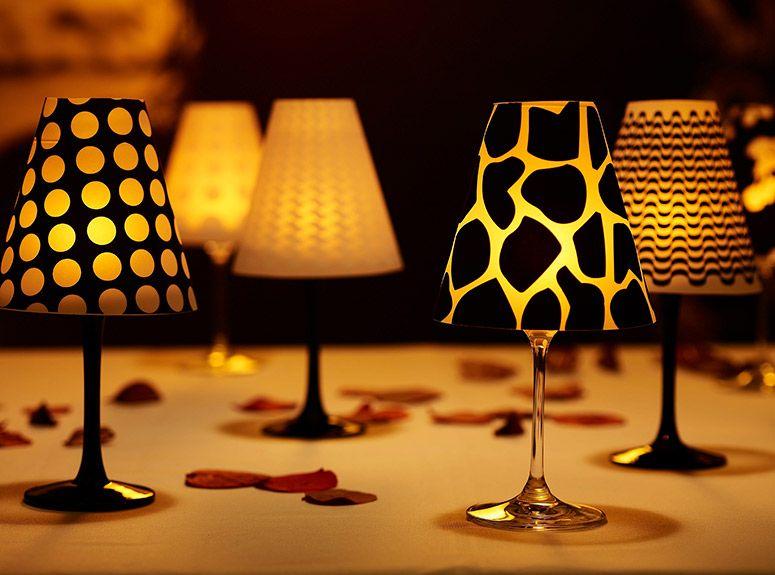Tacajur Wine Glass Lampshades Wine Glass Lamp Wine Glass Candle Wine Glass Decor
