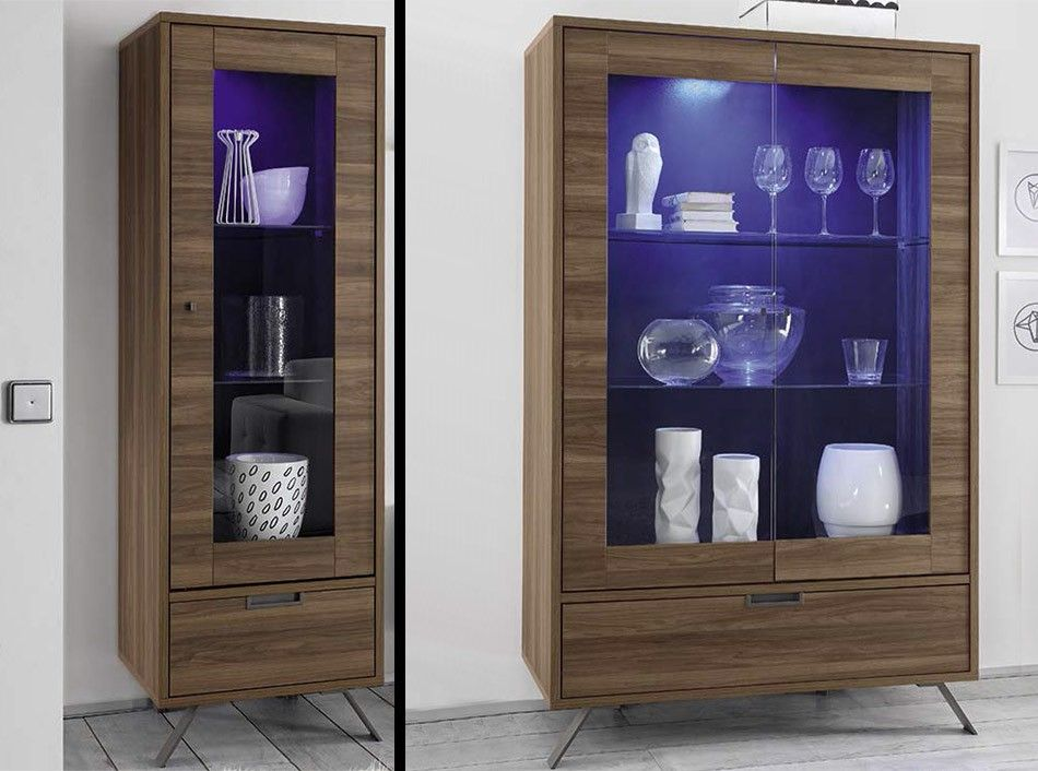 palma modern glass vitrine by lc mobili italy. Black Bedroom Furniture Sets. Home Design Ideas