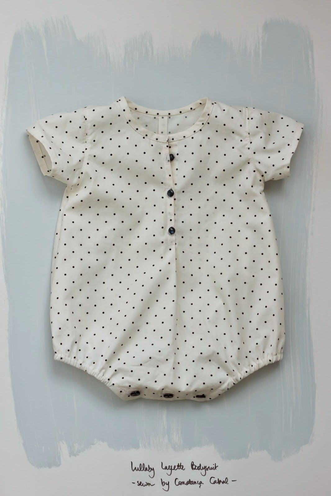 a romper suit for my baby made with the Lullaby Layette pattern by ...