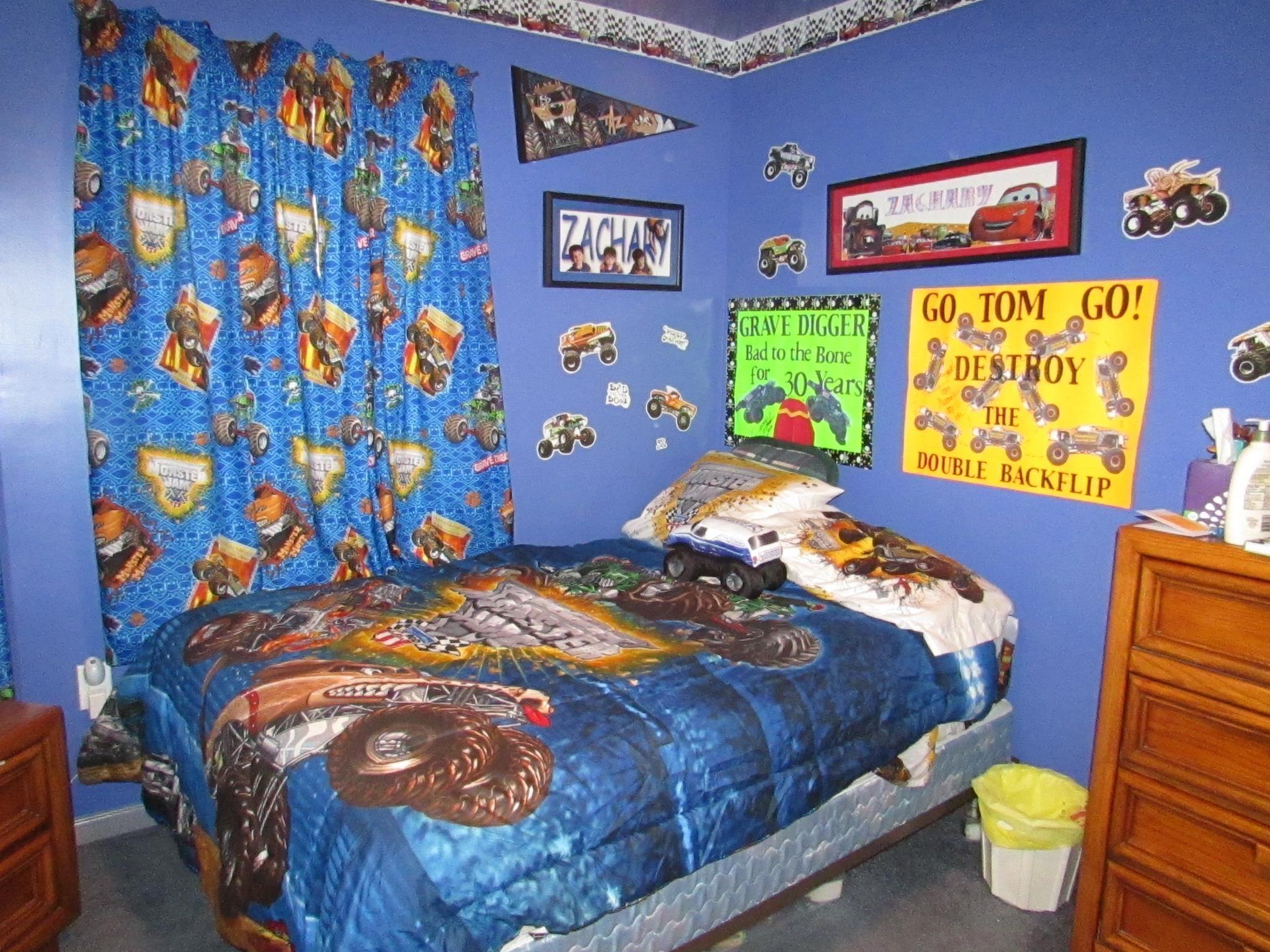 Scooby Doo Bedroom Decor The Coolest Monster Jam Bedroom That Weve Ever Seen Monster