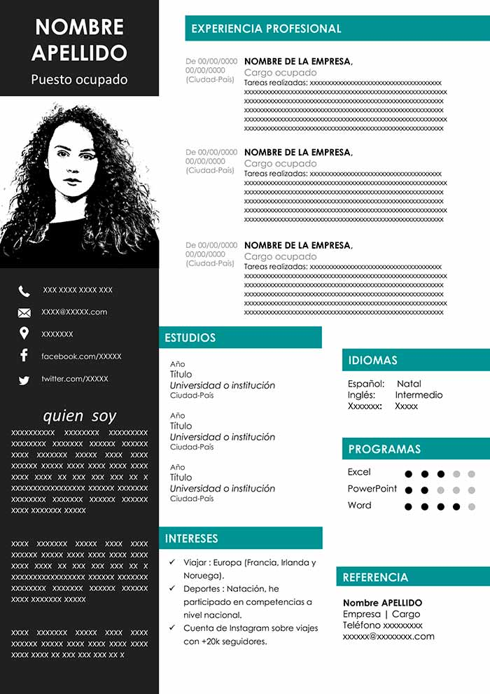 Template Cv Word Free Download Example Curriculum Cv Words Words Curriculum