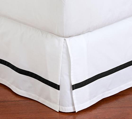 Organic Percale Bed Skirt Skirts, Boho bedding