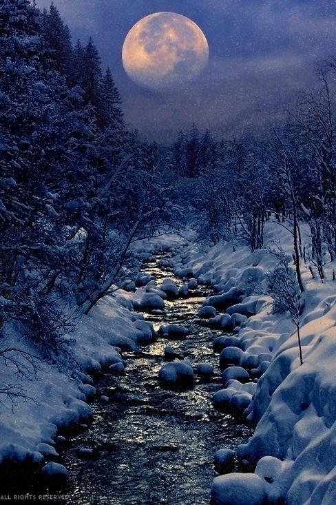Heavenlymind Winter Creek By Peter From On Px Winter - 30 wonderfully wintery scenes around world