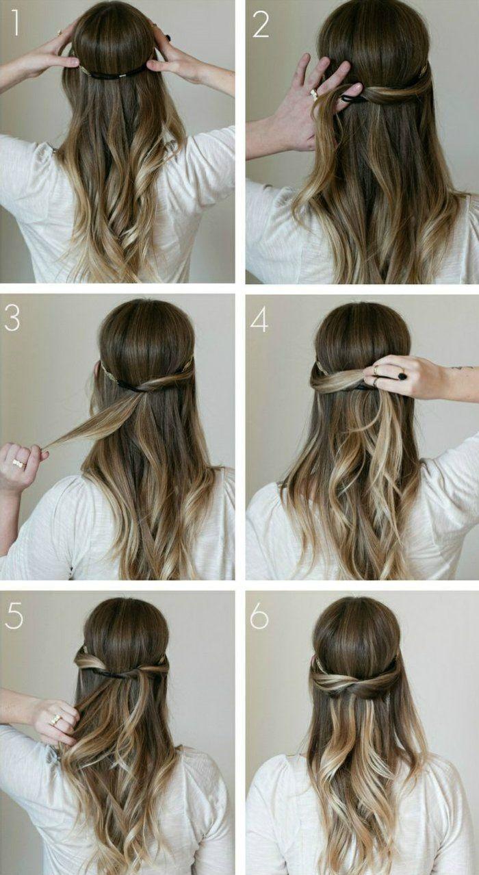 Resultat De Recherche D Images Pour Tuto Coiffure Cheveux Mi Long Coiffure Tutoriels Coiffure Coiffures Simples