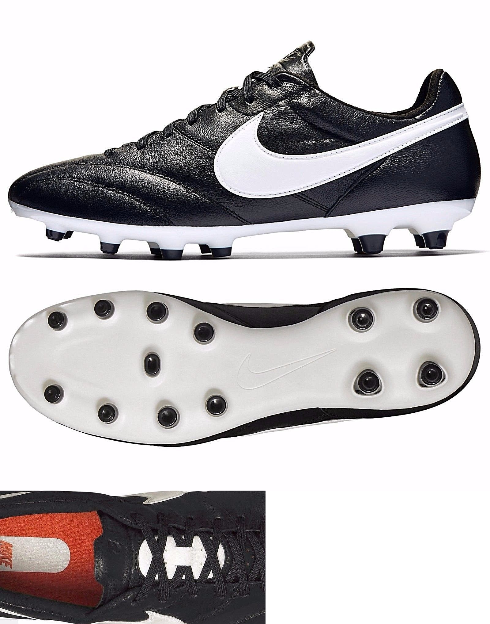 Men 109133: Nike Premier Fg Black Kangaroo Leather Soccer Cleats Mens  599427 018 ->