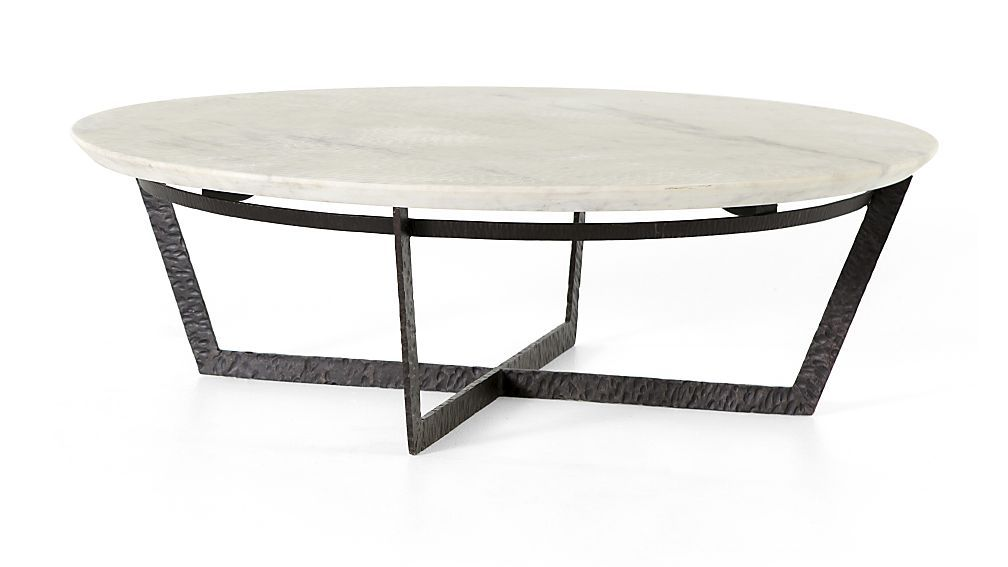 Verdad Round White Marble Coffee Table Reviews Crate And