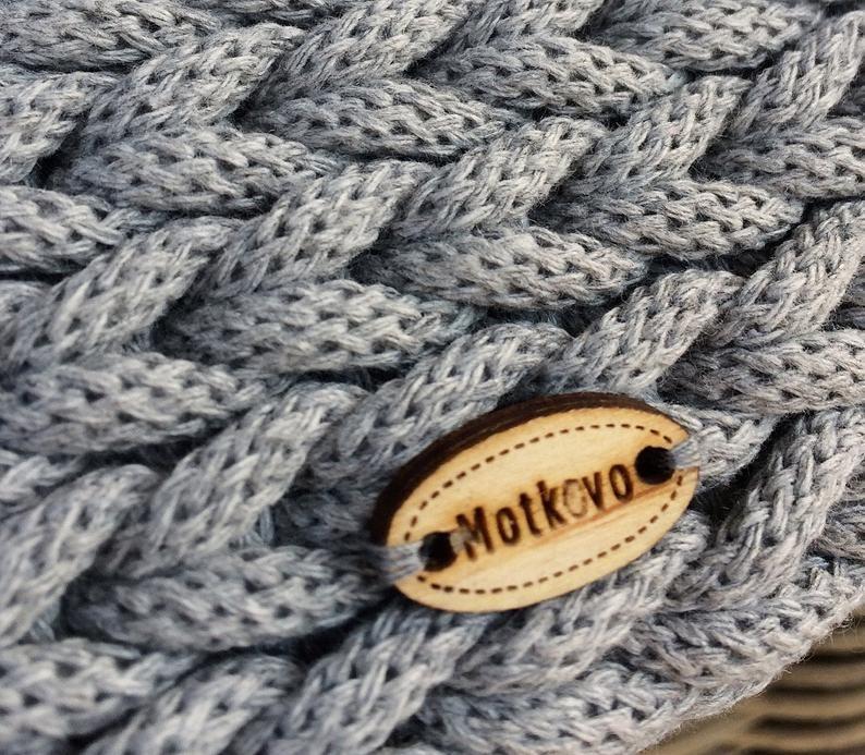 Crochet tappeto rotondo, tappeto di cotone di alta qualità