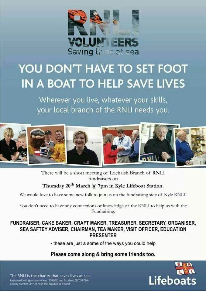 Wherever you are, the RNLI will welcome your help.