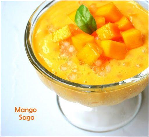 Mango Sago Recipe Mango Sago Pudding Recipe Raks Kitchen Recipe Sago Recipes Mango Sago Mango Sago Recipe