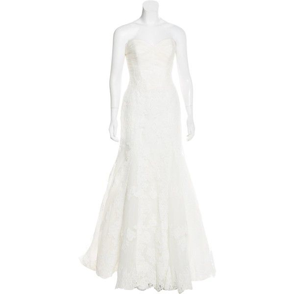 Pre Owned Ovias Hannover Lace Wedding Dress 1 395 Liked On Polyvore Featuring