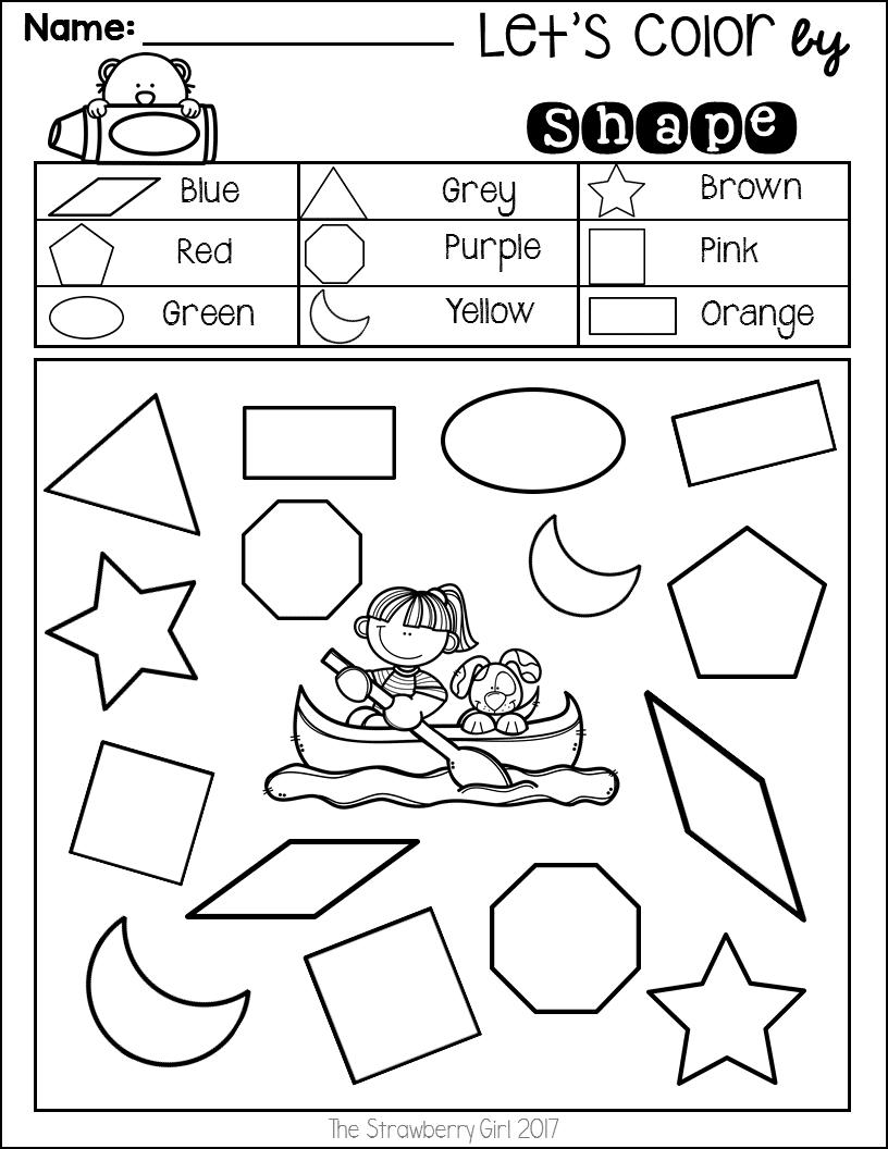 Summer Math Worksheet for PreK-1St Grade has 42 page fun activities with  summer…   Kindergarten math worksheets free [ 1056 x 816 Pixel ]