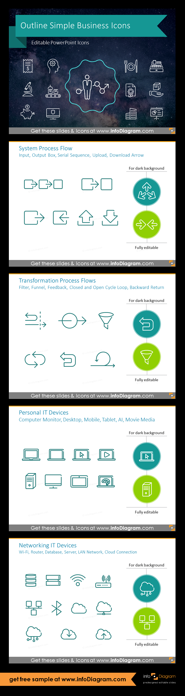 600 Outline Ppt Business Icons Library For Modern Powerpoint Infographics Business Icon Infographic Outline
