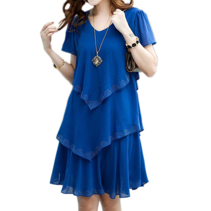 M&S Limited Multicolor Chiffon Ladies Dress-Uk 16