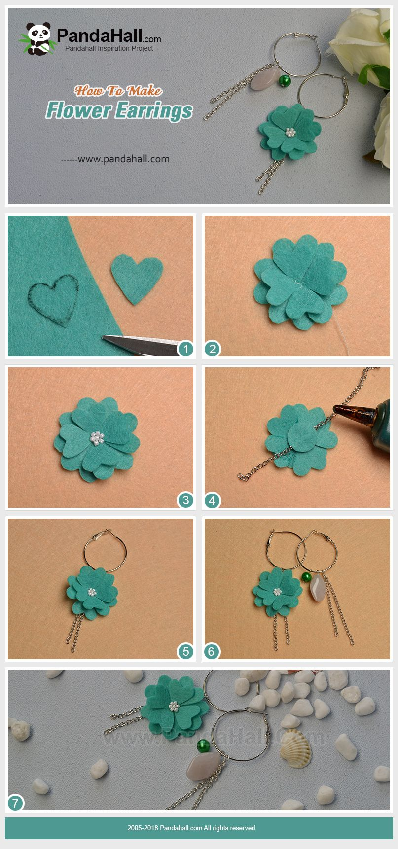 Beebeecraft Tutorials On Making Flower Earrings Aretes