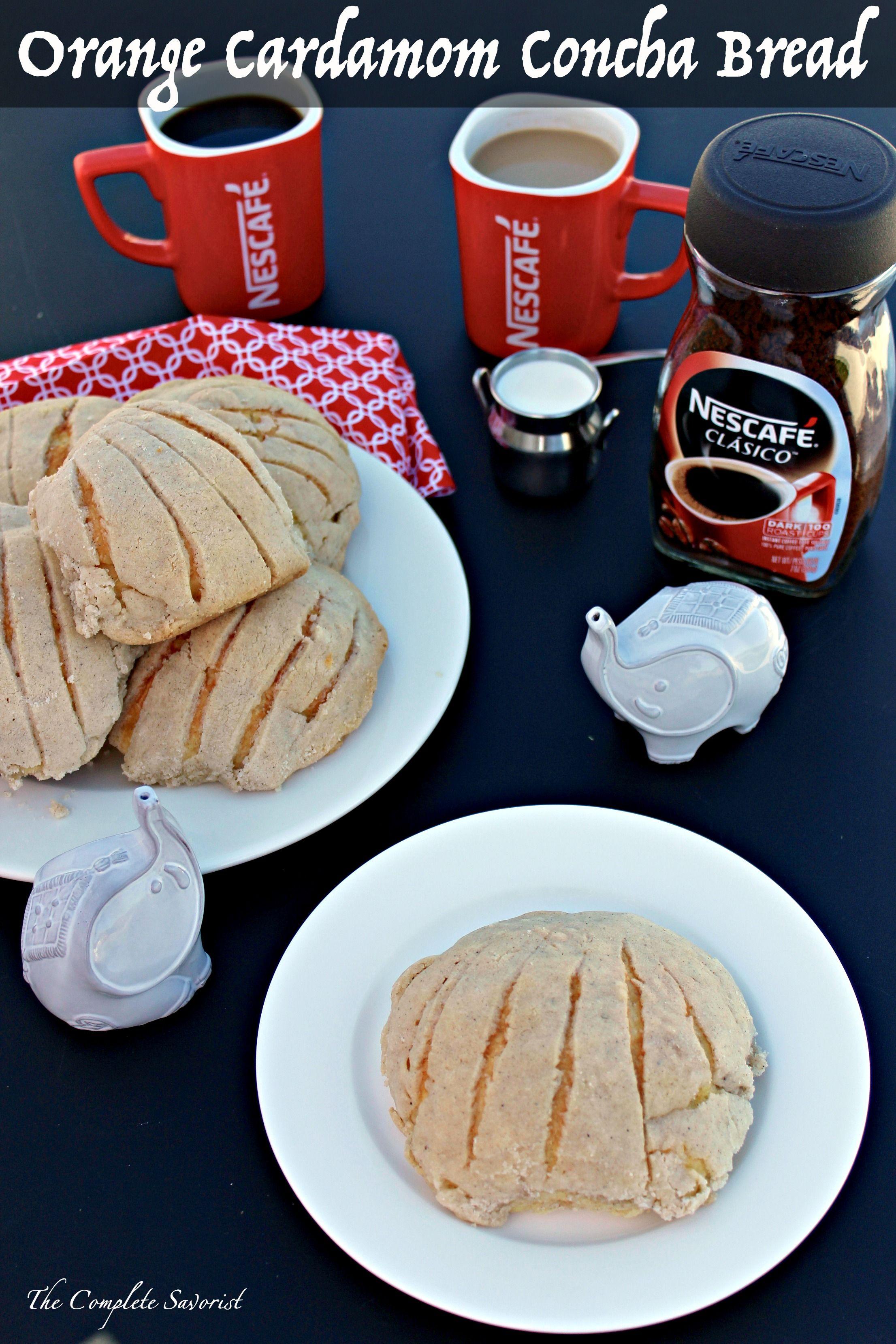 Orange Cardamom Concha Bread (Pan Dulce) ~ Traditional Mexican concha bread  flavored with tangy orange 2e61b25d7e8fb