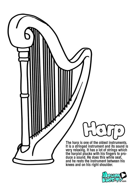 Coloring Pages Of Musical Instruments String Instrument