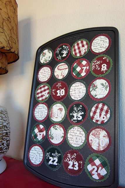 Diy Advent Calendar Muffin Tin : Mini muffin tin advent calendar quot santa i know him