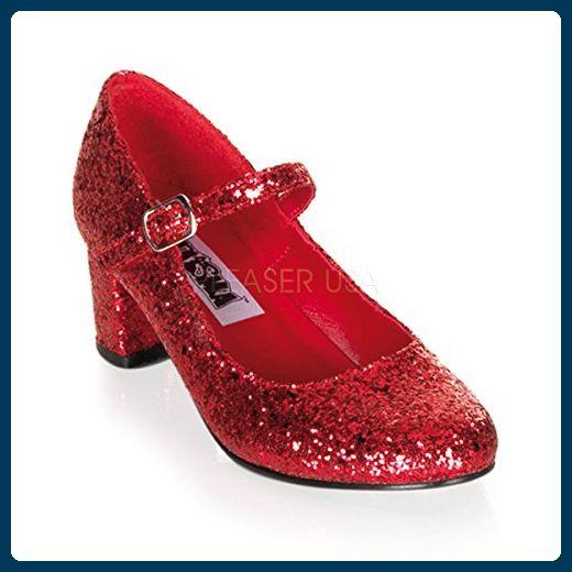 5a741a1e7b39d4 Funtasma Schulmädchen-Schuhe Schoolgirl-50 Glitter rot Gr. 39 - Damen pumps  ( Partner-Link)