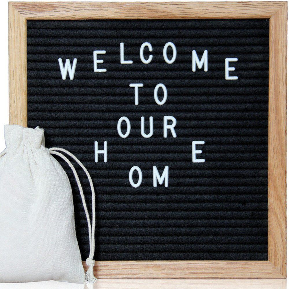 Amazon.com : Letter Board White Felt Letter Board 12 x 12 Inches ...