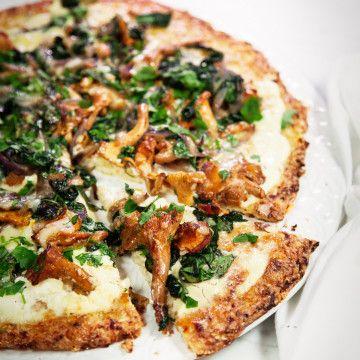 lchf pizza blomkålsbotten