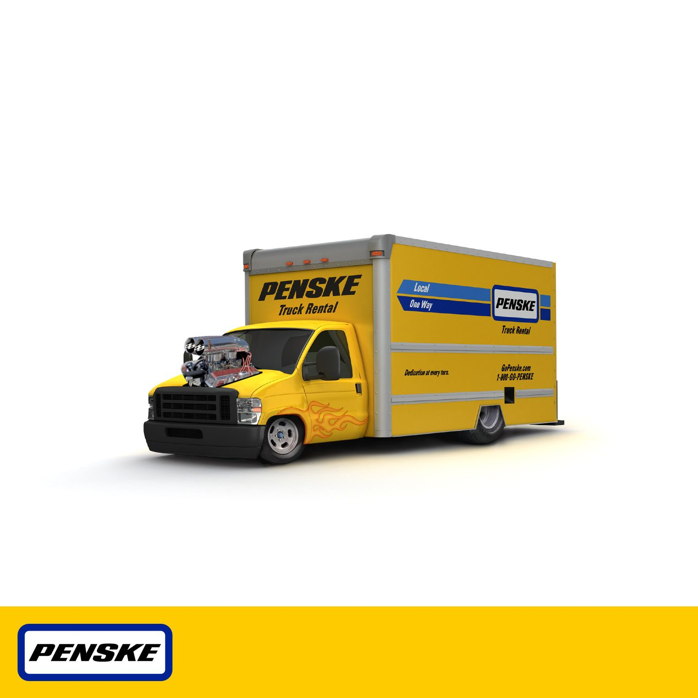 Halloween Costume Or The Child Of A Penske Rental Truck And A