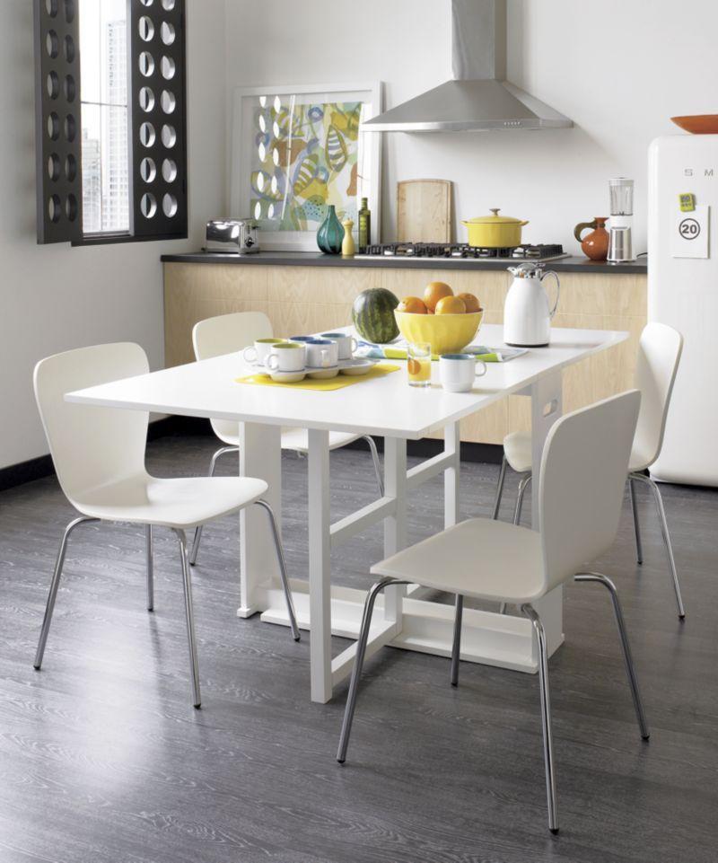 Span White Gateleg Dining Table Foldable Dining Table White Dining Chairs Dining Room Small