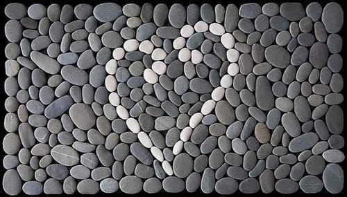 Heart Rock Welcome Mat Stone Art Pebble Stone Pebbles