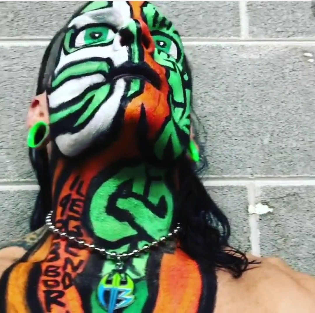 Pin by Kristain Neave on Jeff hardy in 2019   The hardy ...Jeff Hardy Wrestlemania 25 Face Paint
