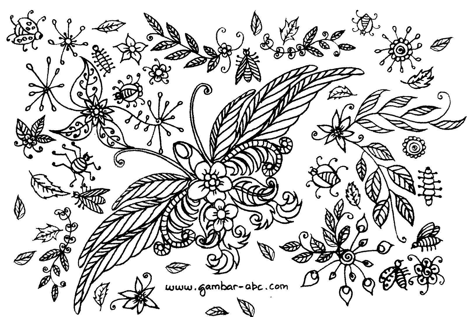 Gambar Motif Batik Bunga Kupu Kupu Motif Bunga Untuk Dewasa