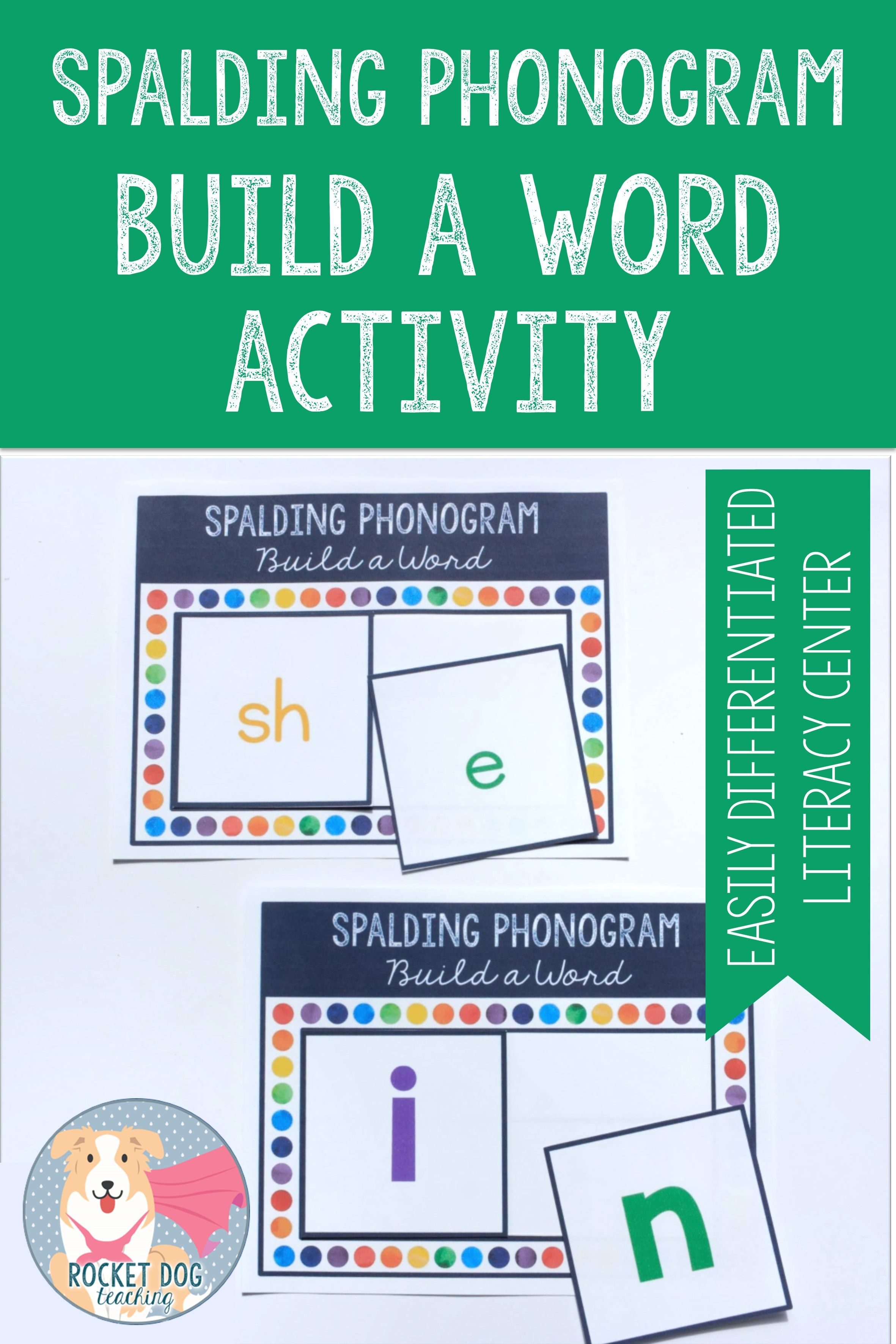 Phonogram Build A Word Activity