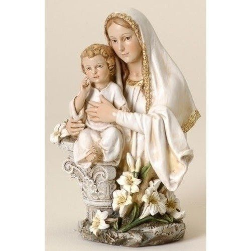 Madonna child beautiful catholic statues available from http madonna and child with easter lily figure virgin mary with jesus statue new negle Image collections