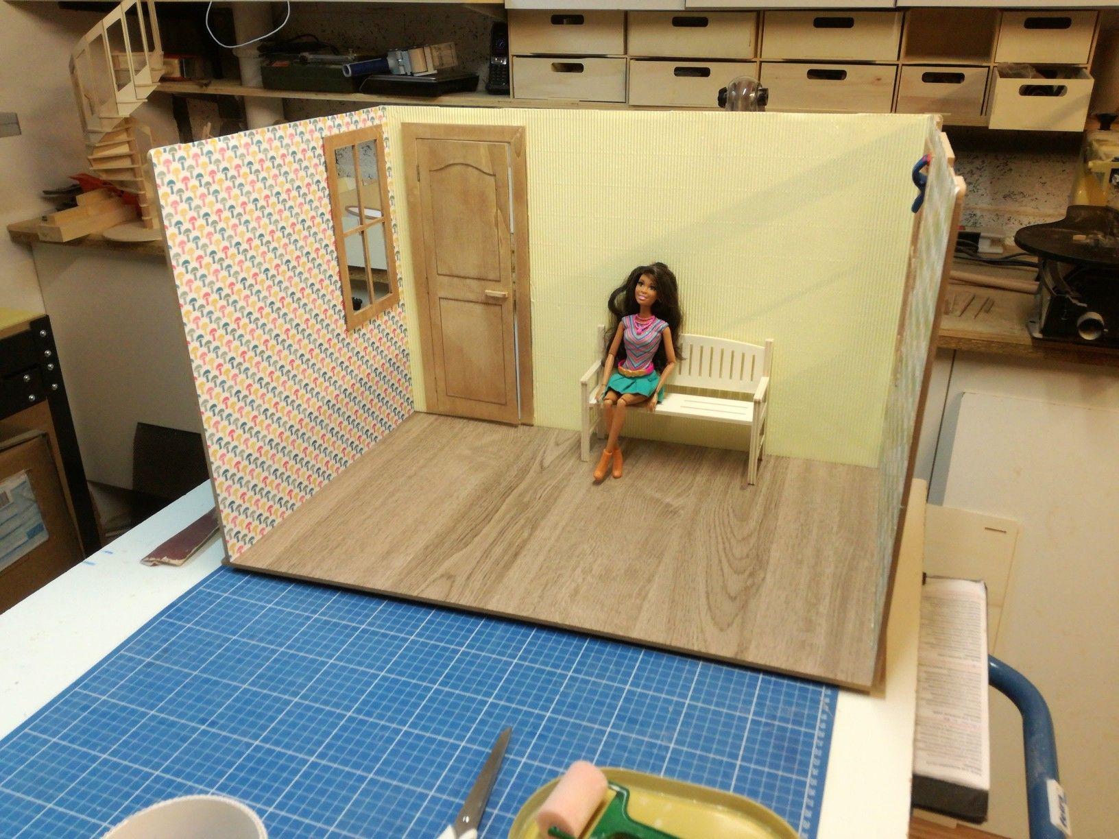 Module Diorama Empilable Minicrea Meubles Et Maisons Miniatures Realises A Partir De Kit Minicrea Fabrique En France Maison Barbie Maison De Poupee Kit