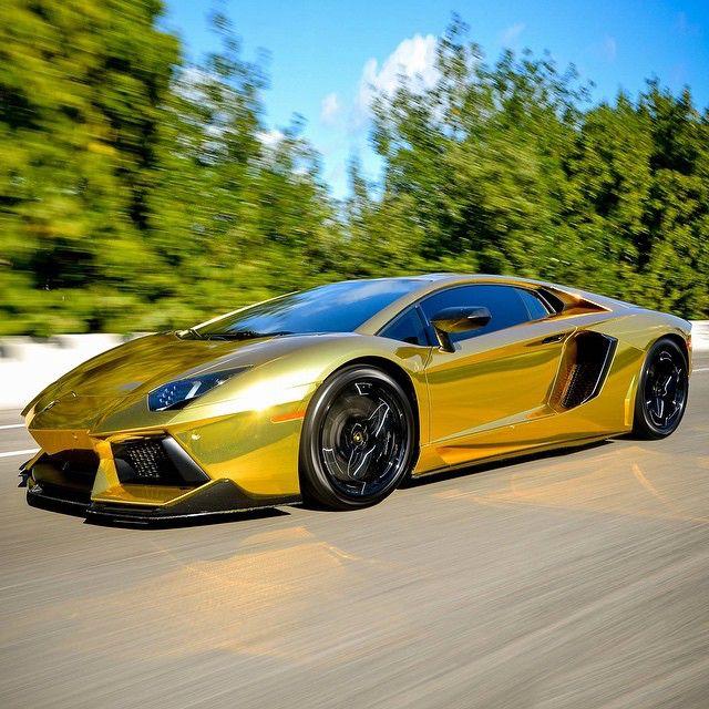 Gold Aventador Gold, Silver & Chrome
