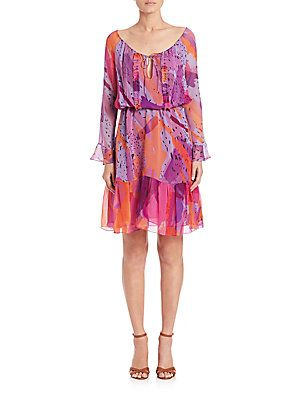 Diane von Furstenberg Simonia Dress - Color Blast Pink - Size 10